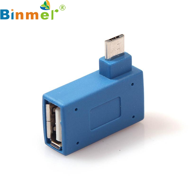 Top Quality Hot Sale 1pc Micro USB 2.0 OTG Host Adapter with USB Power for Cell Phone Tablet JUL 7