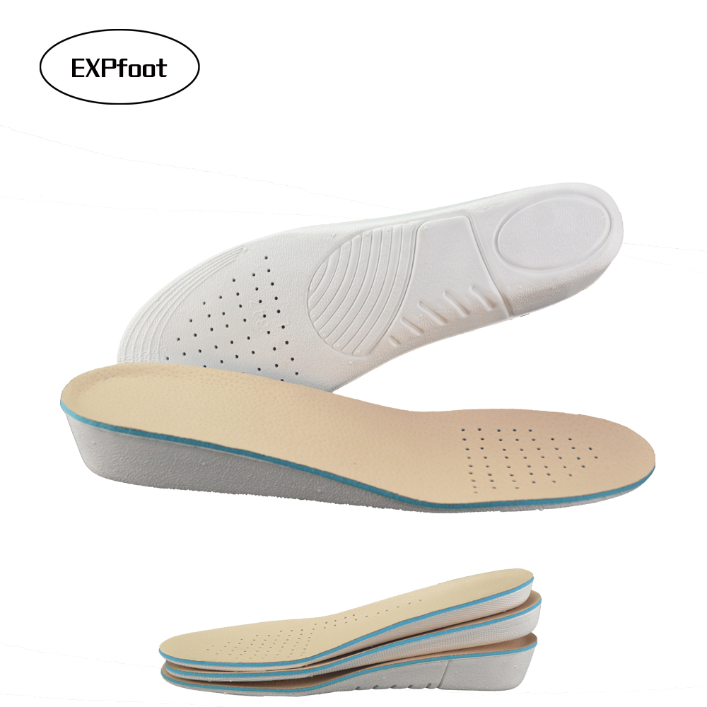 EXPfoot Premium Unisex Genuine Leather Height Increase Elevator Shoes Insoles Invisible Heel Shoe Lift Increased Memory Cushion expfoot orthotic arch support shoe pad orthopedic insoles pu insoles for shoes breathable foot pads massage sport insole 045