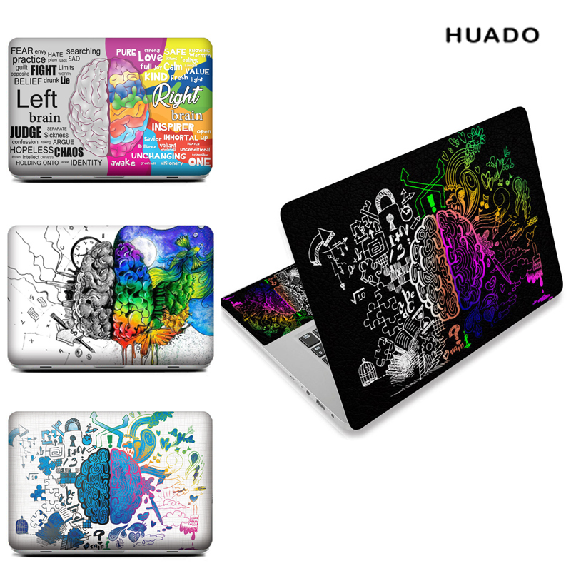 Laptop skin notebook stickers for 15″ 15.6″ 13″ 13.3″ 14″ Brain image computer sticker for macbook/ hp/ acer/ xiaomi