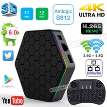 T95Z Plus Smart Android TV Box Amlogic S912 Octa core RAM 3GB ROM 32GB TV BOX Android 6.0 WiFi H.265 4K Media Player Set-top Box