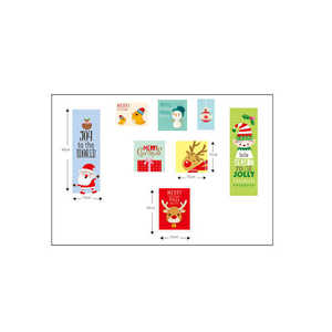 Image 5 - Cartoon Santa Claus Wall Stickers Wall Art Removable Home Decal Party Decor Merry Christmas Window Film Stickers