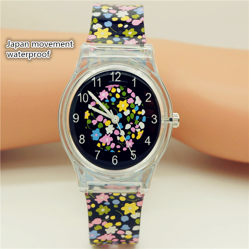 Luxury Brand Women Casual Flower Face Quartz Wristwatches For Children Promotion Waterproof Sports Gift Watches