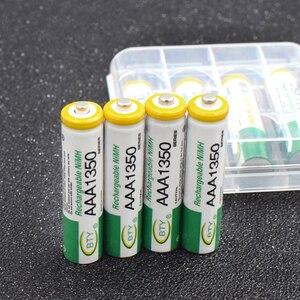 High Power 4pcs 1.2V Ni-MH AA 3000mAh Rechargeable Batteries 2A Neutral Battery Rechargeable Battery AAA 1350mAH Batteries