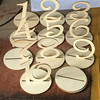 Personalized Rustic Wedding Table Numbers PVC Wedding Table Number Figure Card Digital Seat Decoration