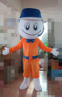 High-quality adult courier yellow mascot costume