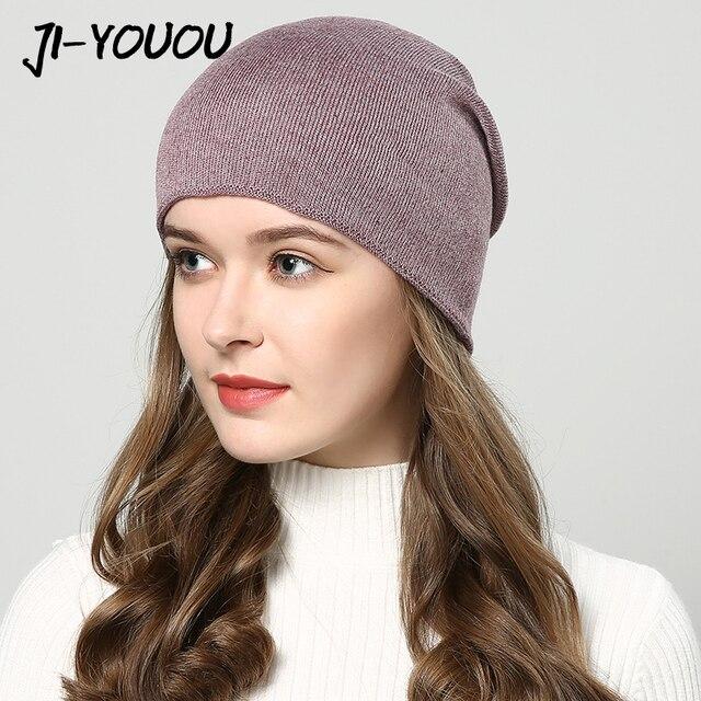 Sombreros de invierno para las mujeres sombreros para las niñas sombrero  hecho punto otoño sombrero touca inverno feminina 7 colores al por mayor 1e7404852c16