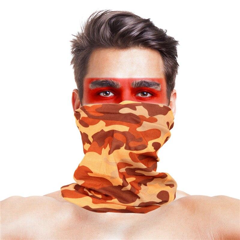 Камуфляжный шарф с высоким прыжком, бандана для мужчин и женщин, маска для лица, тактическая, для улицы, волшебный головной убор, для кемпинга, пешего туризма, шейный шарф - Цвет: 005