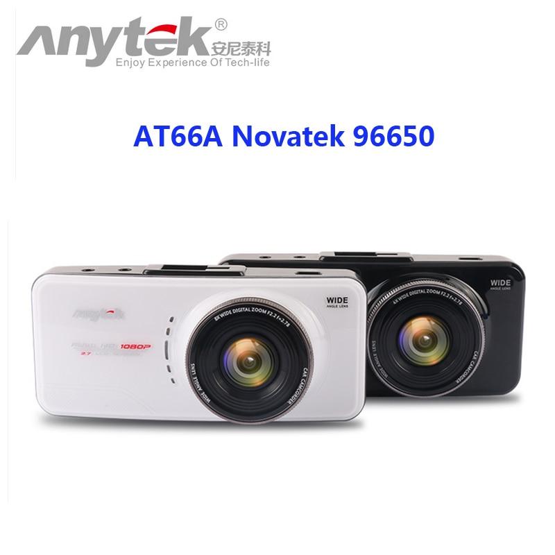 Originale anytek at66a full hd novatek 96650 registratore dell'automobile dvr Scatola nera 170 Gradi 6G Lens Cena Visione notturna Dash Cam
