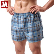 5pcs/Lot Casual Loose Shorts Men's Panties Plaid Cotton baggy Short The Large size Comfortable And Soft Men Summer Beach Shorts(China)