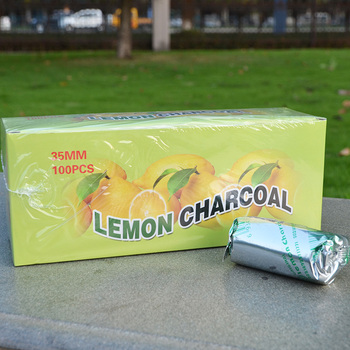 100Pcs /Box (20 rolls )Lemon Flavored Shisha Hookah Charcoal for Water Pipe Quick-lighting  Chicha Narguile Accessories