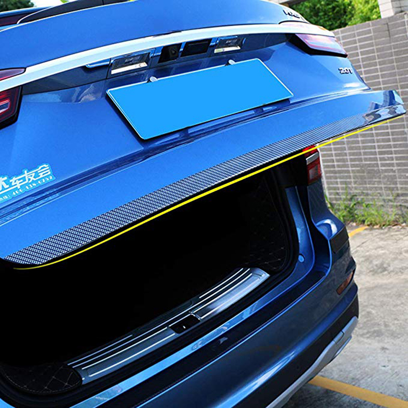 OTRTSUCC Car Door Entry Guards Rear Trunk Carbon Fiber Rubber Edge Bumper Door sill Protector Scratch Resistant Anti-Kick Universal