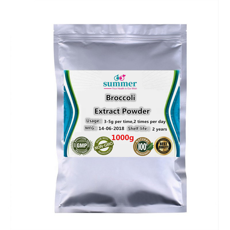 1000g Pure Broccoli extract 30 1 powder for nutrient content add vitamin K in the body
