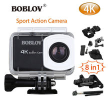 Boblov B1 4K 12MP HD 1080P 2.45″ WIFI DVR Sports Action Helmet Camera Camcorder Waterproof + 8in1 Accessories