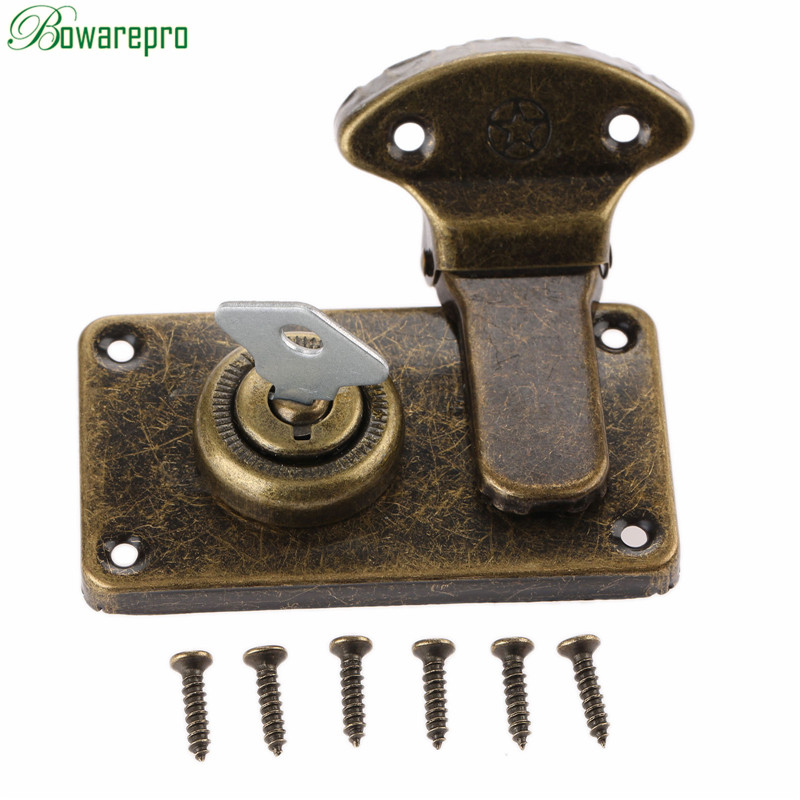 bowarepr Furniture Hardware Antique Box Latches Decorative Hasp Jewelry Wooden Box Suitc ...