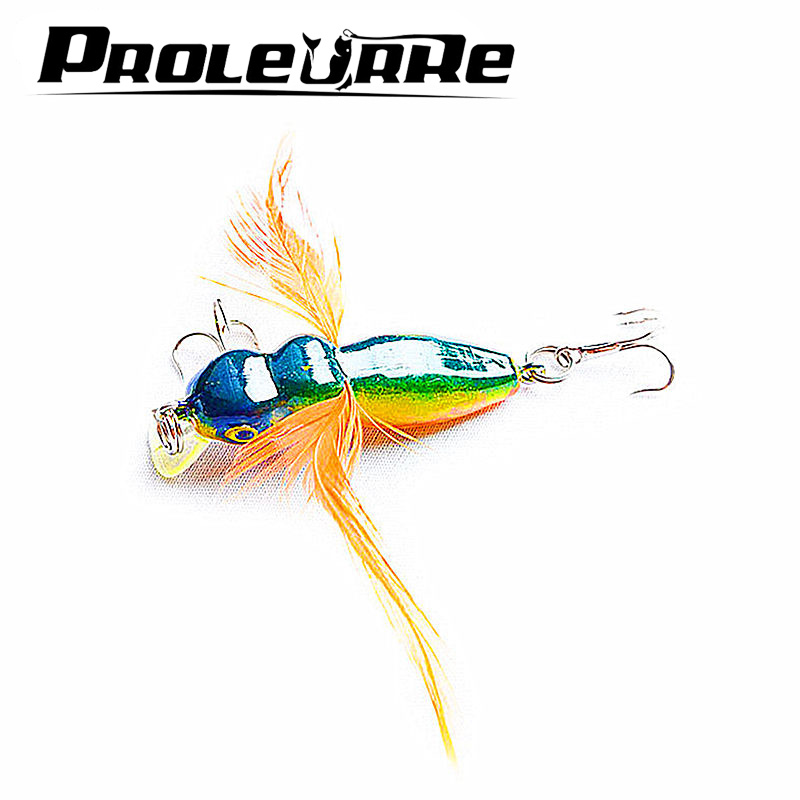 1Pcsa 4.5cm 3.6g Insect Lure Bass Fishing Double Hooks Bait Crankbaits fishing Tackle Top water Gear Accessories 8 colors YR-186 sealurer 5pcs fishing sinking vib lure 11g 7cm vibration vibe rattle hooks baits crankbaits 5 colors free shipping