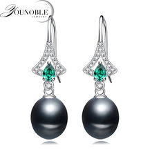 925 sterling silver bridal earrings women,beautiful return gift real freshwater natural pearl