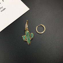 Summer Green Cactus Monaco Earrings 2019 Drop Earrings Plant Metal Party Jewelry Earrings Luxury Brand Travel Girl Accessories(China)