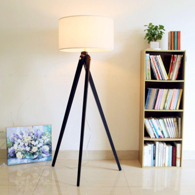 moderne nordique style scandinave americain lampadaire bois lampadaire blanc chaud de l abat jour oscillant pied lampadaire