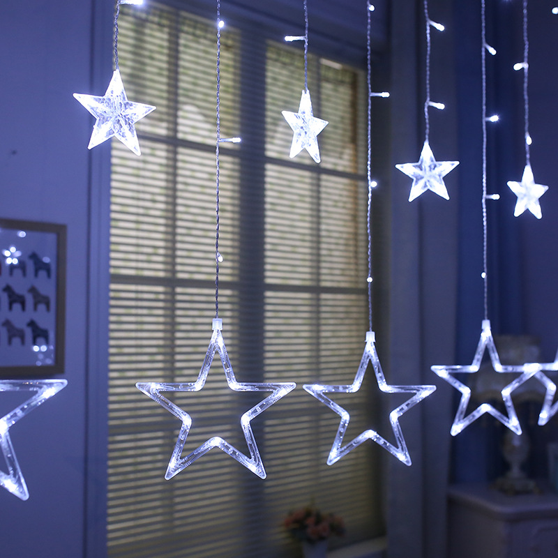 Рождественское украшение 3d Светодиодная звезда неоновая световая вывеска