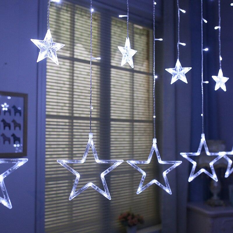 Christmas decoration 3d led star neon light sign