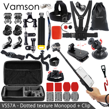 Vamson For Gopro Hero 5 Accessories Set Mount Remote Monopod For Go pro hero 5 5S 4 3+3 for EKEN H9 for xiaomi yi for 4k VS57
