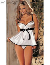 MOONIGHT Hot Sale Sexy Lingerie Hot Women diaphanous pajama Sleepwear Free Shipping Plus Size S M L XL 2XL 3XL 4XL 5XL 6XL