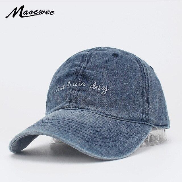 Caps Women Men Unisex Bad Hair Day Letters Embroidery Baseball Casual Male  Female Sun Hats Cool Dad Hat Adjustable Bone Snapback 70b9aa8085