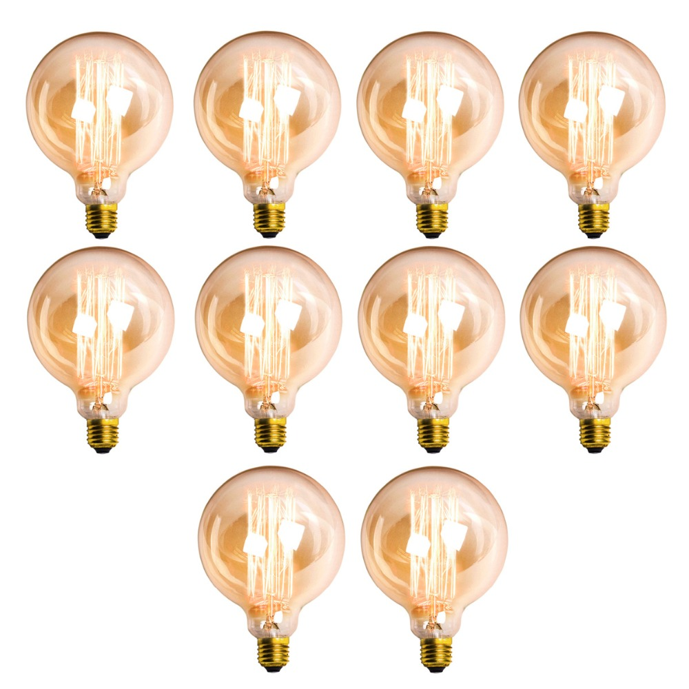 G80/G90/G125 Dimmable Edison Bulb Antique Vintage Lamp  Retro Edison Bulbs Light Decoration Incandescent Filament LED Bulb lumiparty classical edison bulb e27 8w filament luminaria tubular nostalgic filament incandescent antique light bulb home lamp