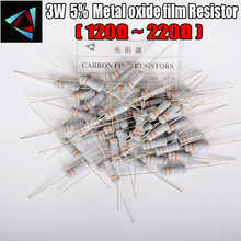 15pcs 5% 3W Metal oxide film Resistor 120 150 180 200 220 ohm Carbon Film Resistor