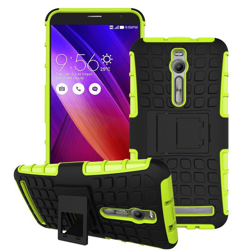 For Asus Zenfone 2 ZE551ML ZE550ML Case Heavy Duty Armor Stand Shockproof Hybrid Hard Soft Rugged Silicon Rubber Phone Cover HTB1SI97JFXXXXcCXXXXq6xXFXXXl