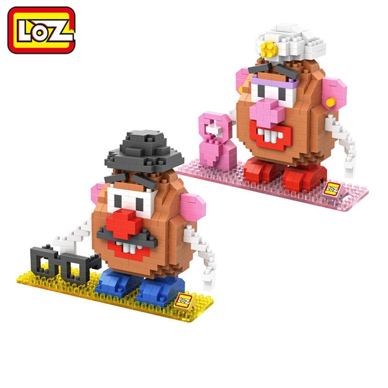 где купить LOZ Toy Story Mr. Potato Head Toy Model Action Figure Building Blocks Original Retail Box 14+ по лучшей цене