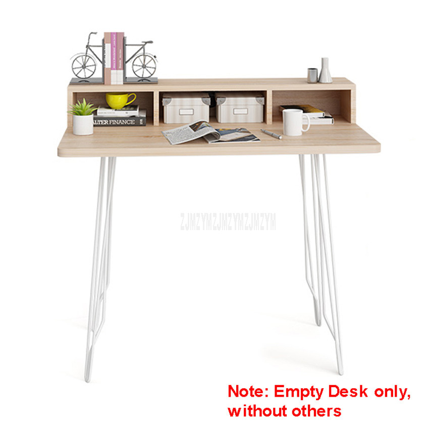 100*60cm Wood Desk Household Notebook Benchtop Computer Table Bedroom Bedside Student Desk Modern Study Table Lapdesk S05Z002