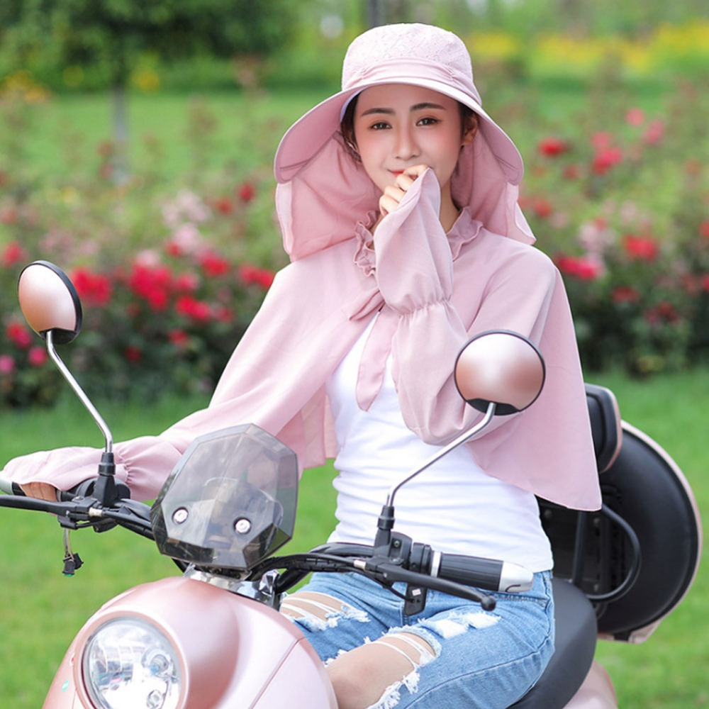 Sun-Hat Detachable Cycling Summer Outdoor for Multifunction Women