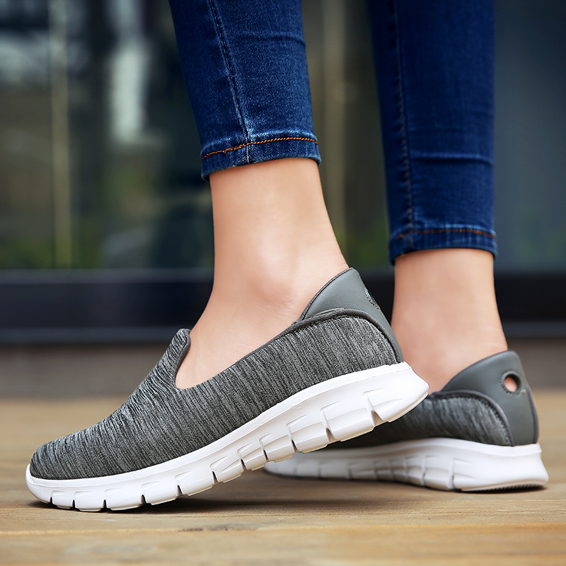 COOTELILI Women Sneakers Platform Casual Shoes Woman Flats Slip on Comfortable Loafers Ladies Green Gray Pink Plus Size 40 41 42 vintage weave style spring autumn women casual loafers pointed toe slip on flats for woman ladies single shoes plus size gray