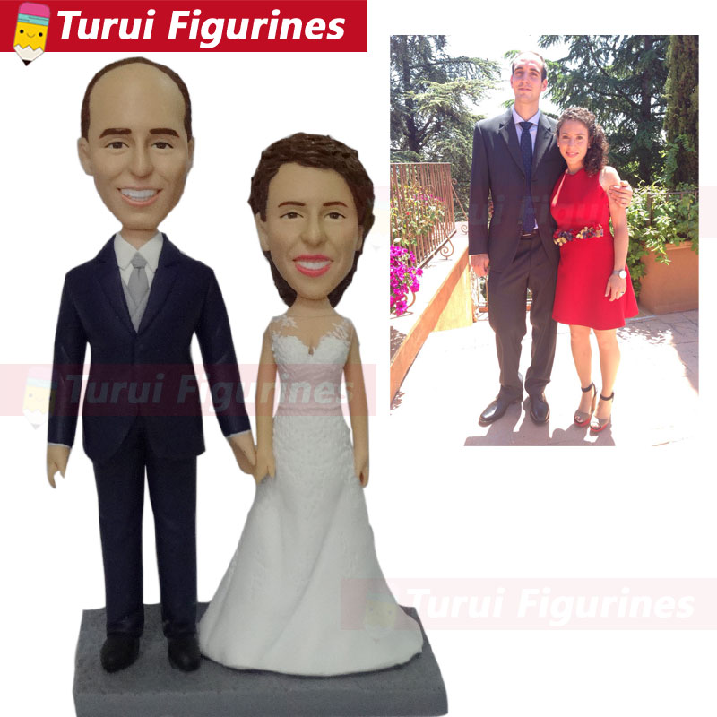 custom sculptures copy from photo wedding couple bobblehead figurines custom bust wedding cake topper from pictures personalized