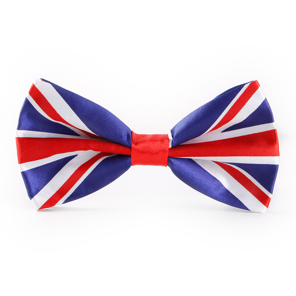 Fashion UK Flag Adult Bow Tie Brand Ties For Men Gravata Butterfly Wedding Bowtie