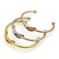 Gold color number 8 bangle bracelet women pulseiras, fashion stainless steel bracelets & bangles bilezik ve bilezik jewelry