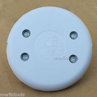 White in-line Inline Lamp Foot Push Switch Power Light FootSwitch Lighting