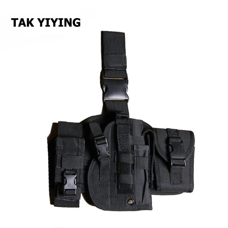 TAK YIYING Tentera Minter Tactical Molle serba boleh Drop Leg Rifle Pistol Gun Belt Kes Sarung Dengan Radio Pouch Penyamaran