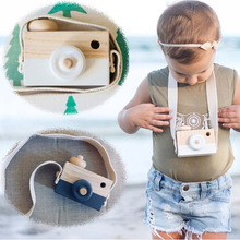 Cute Nordic Hanging Wooden Camera Toys Kids Toy Gift 9*8*3.5cm Room Decor Furnishing Articles Wooden Toys For Kid Baby