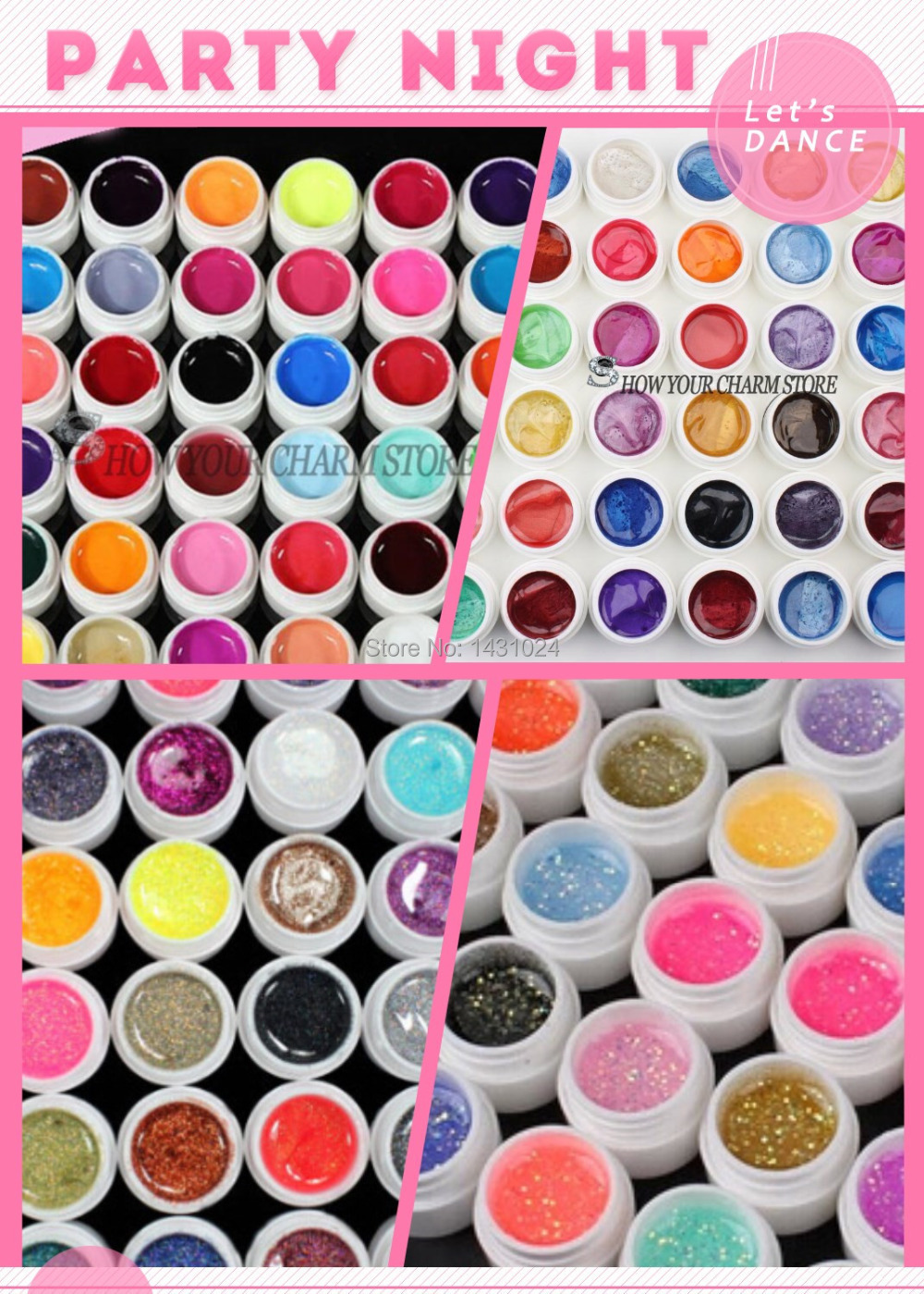 все цены на 120PCS mix color Pure+Glitter Paillette+ Glitter+pearlescent nacre colors nail art uv gel set gel kit UV Nail Art Tips