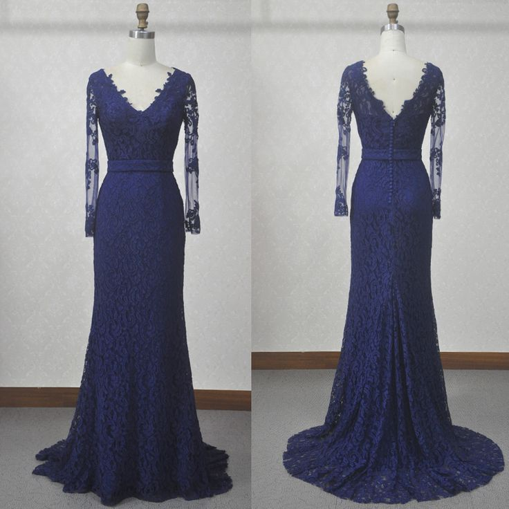 Aliexpress.com : Buy Actual image women long navy blue prom ...