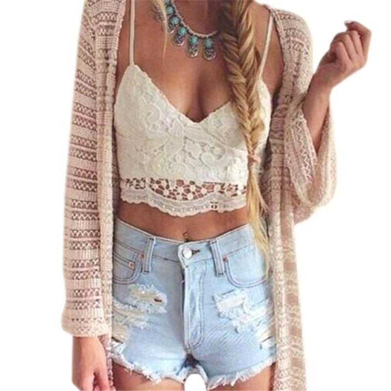 snowshine YLIW Hot marking Women Crochet Tank Camisole Lace Vest Blouse Bralette Bra Crop Top free shipping