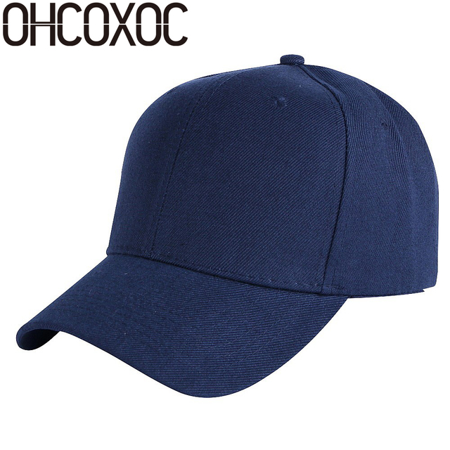 ecec90caec51c1 ... promo code for ohcoxoc promotion new plain color baseball cap hat white  black navy pink grey