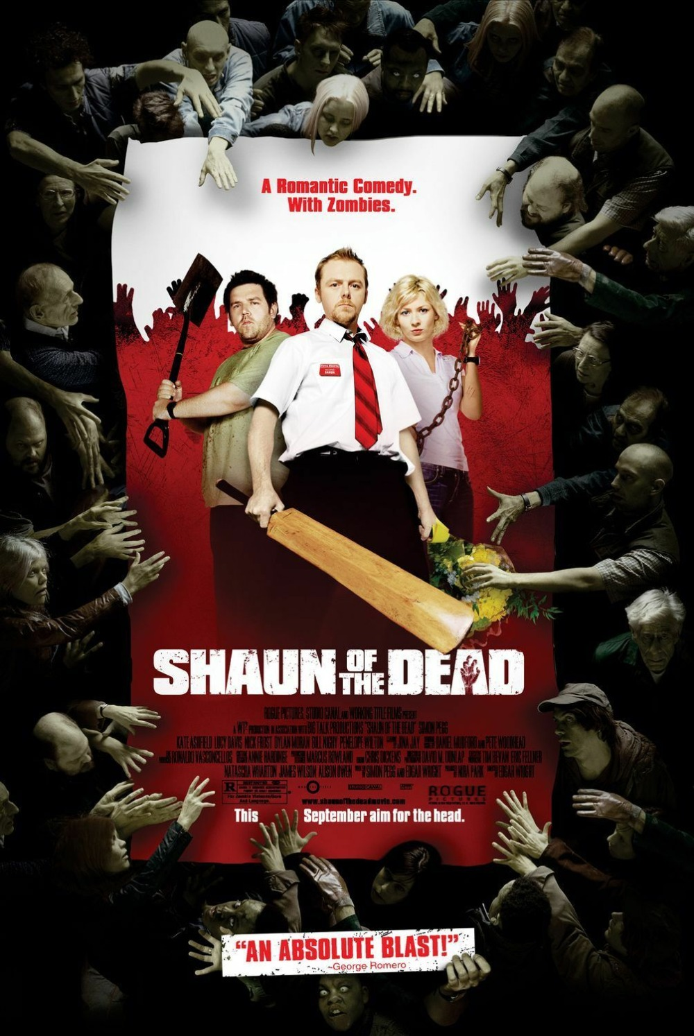 SHAUN OF THE DEAD (2004) film SILK POSTER Wall painting 24x36inch image
