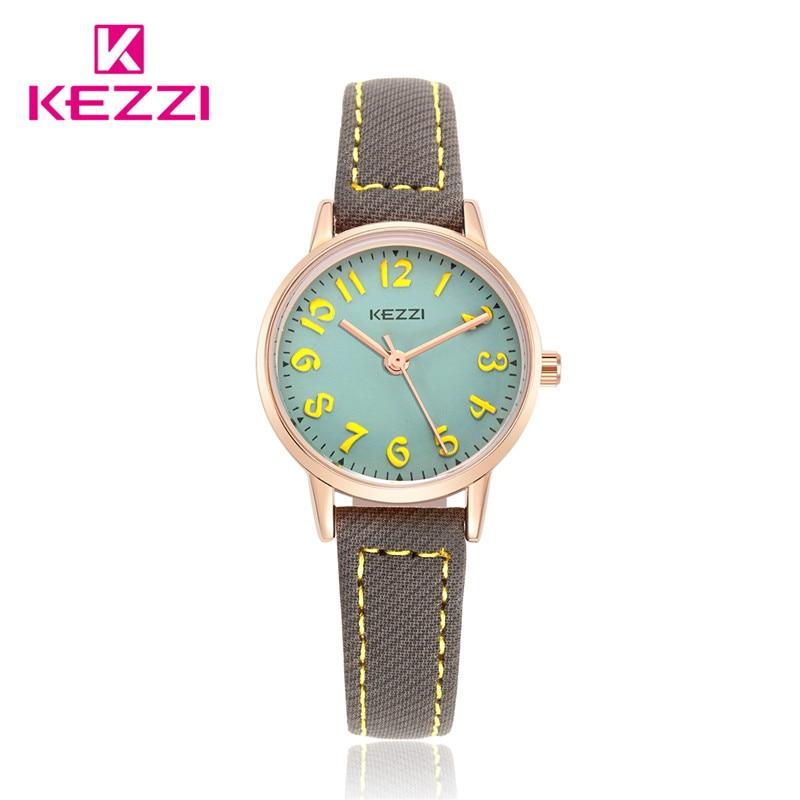 2016 New Fashion KEZZI Brand Lovely Children Watches Girls Daily Waterproof Leather Cartoon Watch Quartz Wristwatches