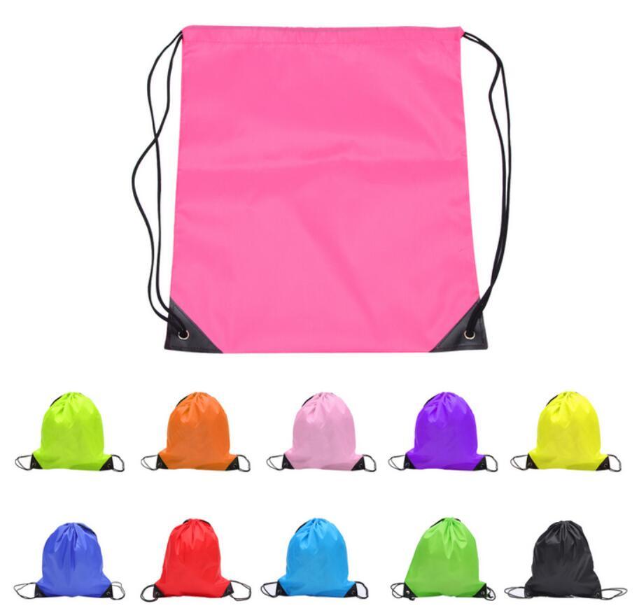 Waterproof Nylon Drawstring Bag Gift/Backpack/Bundle Pocket/Knapsack/Travel Oxford Pouch Custom Logo