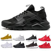 84208e0fd55e Wholesale 2018 Huarache Running Shoes Men women Triple White Black red Grey  mens womens Huaraches trainer sports shoes Sneakers