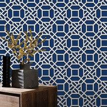 Beibehang Modern Non-woven 3d Wallpaper Living Room Classical Plaid Hotel Restaurant Decorative wallpaper roll papier peint