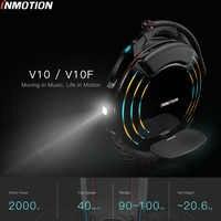 INMOTION V10/V10F Selbst Ausgleich Rad Roller Elektrische Einrad 2000W Build-in Griff Hoverboard Mit Dekorative Lampen